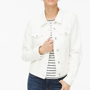 ❤️NWT J. Crew $89 white jean jacket XS